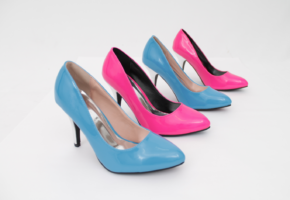 Pink & Blue Shoes